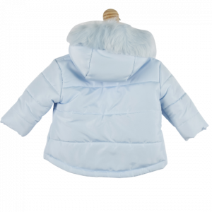 Mintini Baby Boys Jacket Blue - back