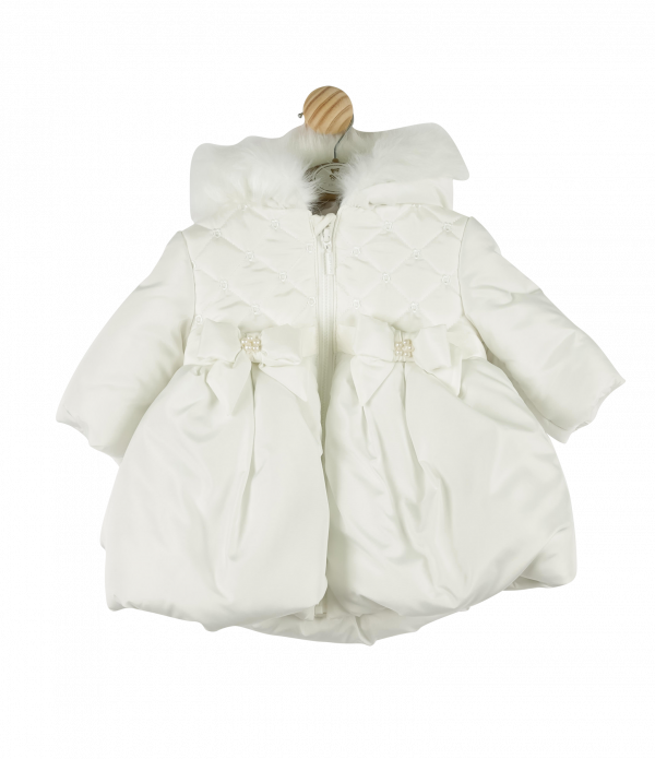 Mintini Baby Girls Ivory Coat