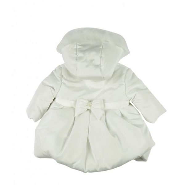 Mintini Baby Girls Ivory Coat - back